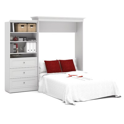 Acevedo Queen Wood Murphy Bed Finish: White
