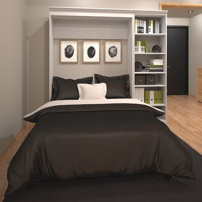 Acevedo Traditional Full/Double Murphy Bed Finish: White