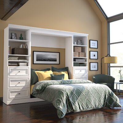 Acevedo Full/Double Wood Frame Murphy Bed Color: White