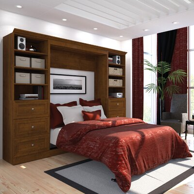 Acevedo Full/Double Wood Frame Murphy Bed Color: Chocolate