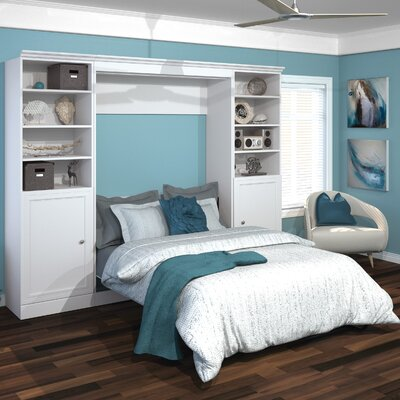 Acevedo Traditional Storage Full/Double Murphy Bed Finish: White