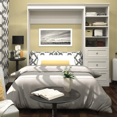 Acevedo Full/Double Wood Murphy Bed Color: White
