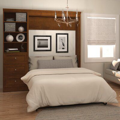 Acevedo Full/Double Wood Murphy Bed Color: Chocolate