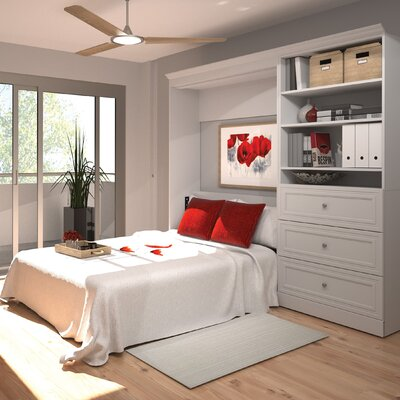 Acevedo Full/Double Storage Murphy Bed Color: White