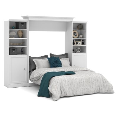 Acevedo Queen Murphy Wall Bed Color: White