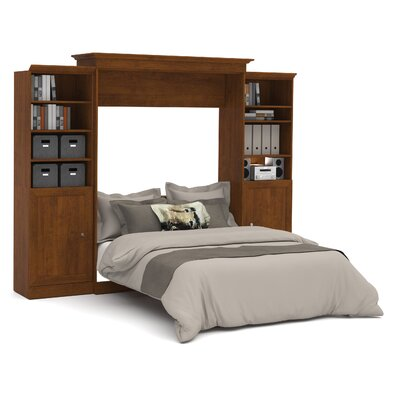 Acevedo Queen Murphy Wall Bed Color: Tuscany Brown