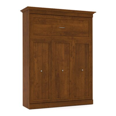 Acevedo Storage Murphy Bed Size: Queen, Color: Tuscany Brown