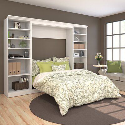 Acevedo Full/Double Murphy Wall Bed Color: White