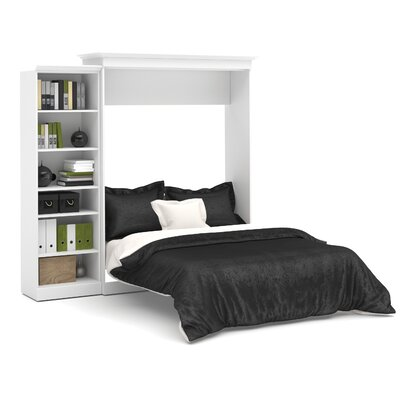 Acevedo Queen Storage Murphy Bed Color: White
