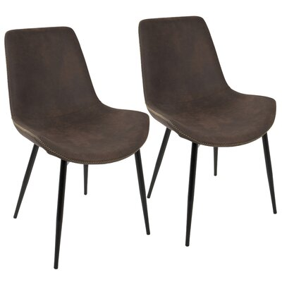 Amendola Side Chair Upholstery: Espresso