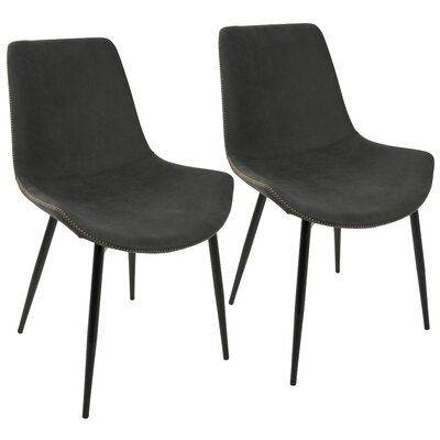 Amendola Side Chair Upholstery: Gray