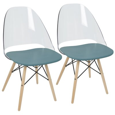 Beyer Solid Wood Dining Chair Finish: Teal Blue