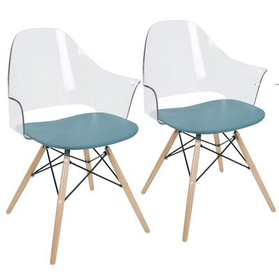 Beyer Flair Arm Chair Seat Finish: Teal Blue