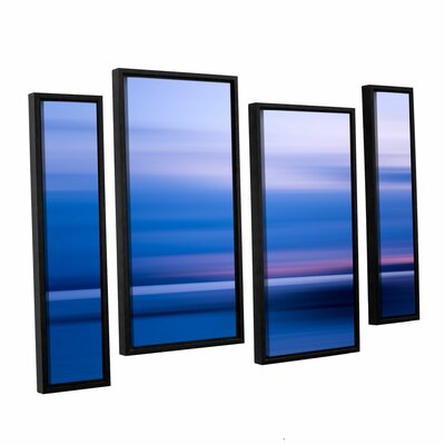 Kamalaya Sunset 4 Piece Framed Graphic Art Set Size: 24