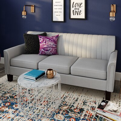 Chaoyichi Fabric Sofa Upholstery: Light Gray