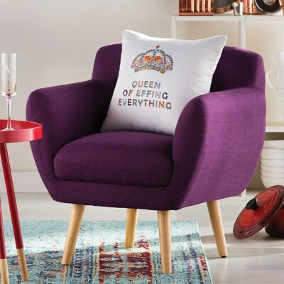 Berenice Arm Chair Upholstery: Plum