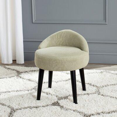 Mabelline Vanity Stool Upholstery: Green Mist