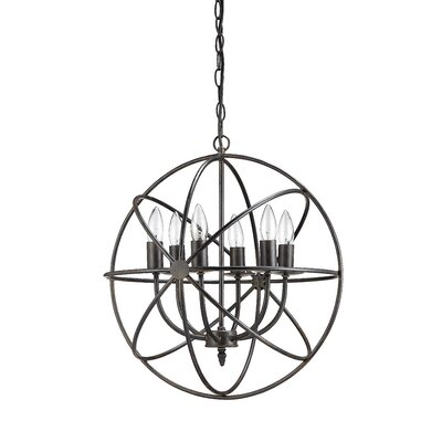 Aust 6-Light Candle-Style Chandelier