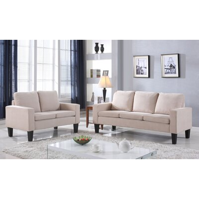 Bibbs 2 Piece Living Room Set Upholstery: Beige