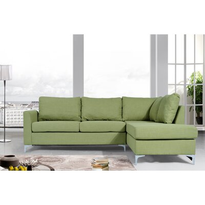 Bickel Reversible Sectional Upholstery: Green