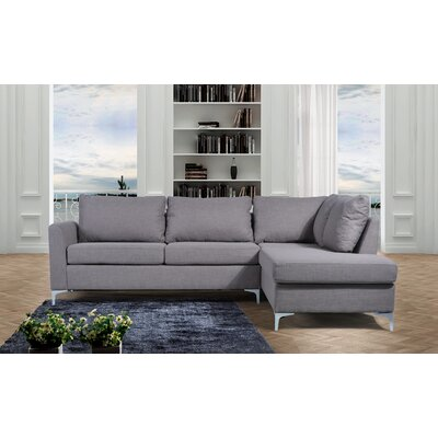 Bickel Reversible Sectional Upholstery: Grey