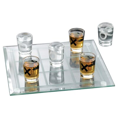 Wrought Studio Veliz 10 Piece Tic-Tac-Toe Shot Glass Set VRKG4988 40425872