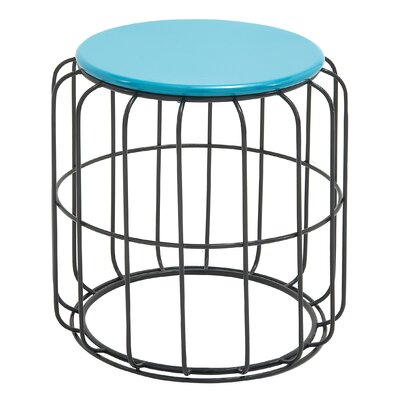 Aucoin Side Table Finish: Blue / Black
