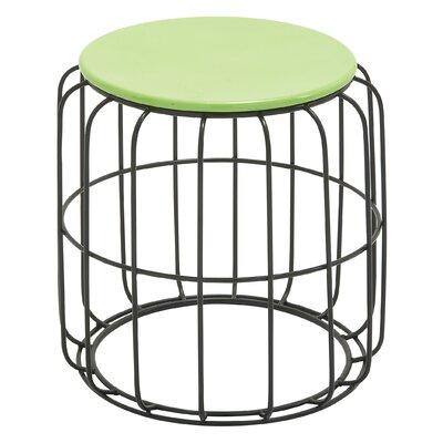 Aucoin Side Table Finish: Green / Black