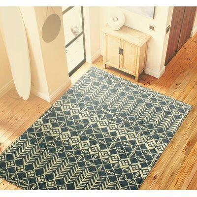 Bielecki Hand-Tufted Azure Area Rug Rug Size: 86 x 116