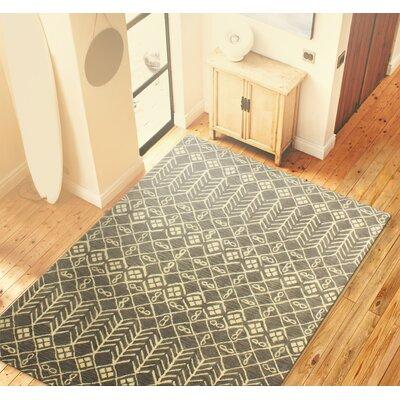 Bielecki Hand-Tufted Grey Area Rug Rug Size: 36 x 56