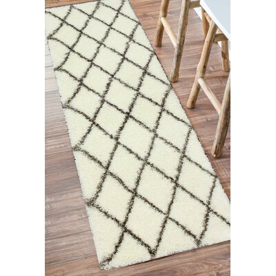 Bronson Plush Brown/Cream Area Rug Rug Size: Runner 28 x 8