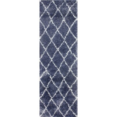 Bronson Trellis Blue Area Rug Rug Size: Rectangle 67 x 9