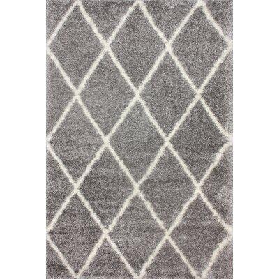 Bronson Trellis Ash Area Rug Rug Size: 4 x 6