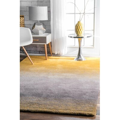 Bier Hand-Tufted Yellow Area Rug Rug Size: Runner 26 x 8