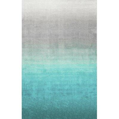Bierman Sivir Turquoise/Gray Area Rug Rug Size: 7 x 9