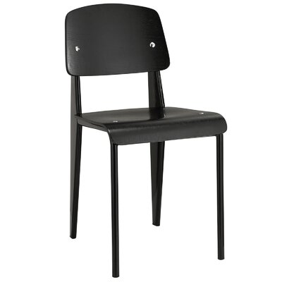 Binns Side Chair Finish: Black Black