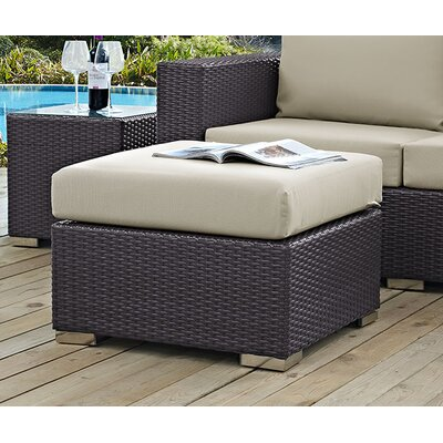 Binghamton Ottoman with Cushion Fabric: Beige