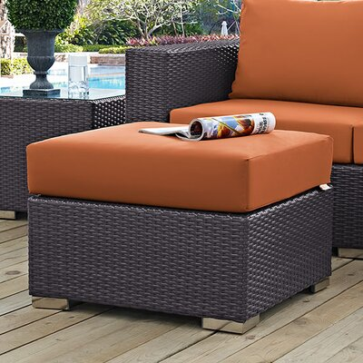Binghamton Ottoman with Cushion Fabric: Orange