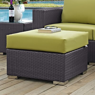 Binghamton Ottoman with Cushion Fabric: Peridot