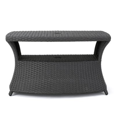 Armenta Outdoor Side Table Finish: Gray