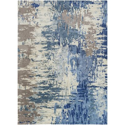 Demosthenes Blue Area Rug Rug Size: Runner 26 x 8