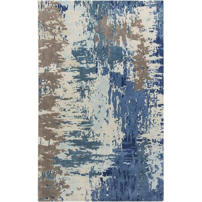 Demosthenes Blue Area Rug Rug Size: 5 x 8