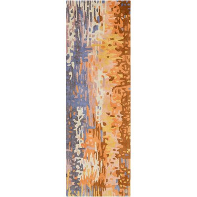 Demosthenes Tan Area Rug Rug Size: Runner 26 x 8
