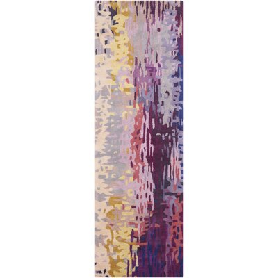 Demosthenes Purple Area Rug Rug Size: Runner 26 x 8