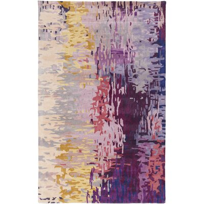 Demosthenes Purple Area Rug Rug Size: 5 x 8