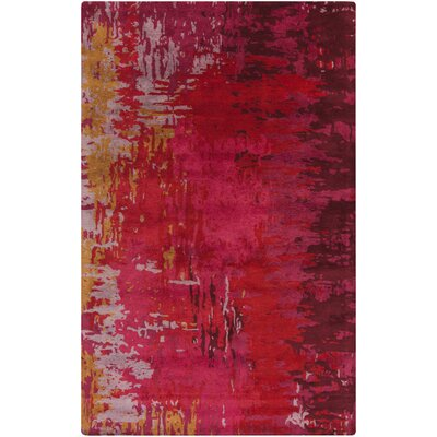 Demosthenes Burgundy Area Rug Rug Size: Rectangle 5 x 8
