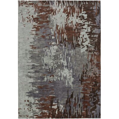 Demosthenes Hand-Tufted Light Gray Area Rug Rug Size: 33 x 53