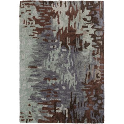 Demosthenes Hand-Tufted Light Gray Area Rug Rug Size: Rectangle 33 x 53