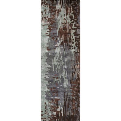 Demosthenes Hand-Tufted Light Gray Area Rug Rug Size: Runner 26 x 8