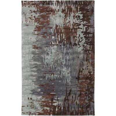 Demosthenes Hand-Tufted Light Gray Area Rug Rug Size: 5 x 8